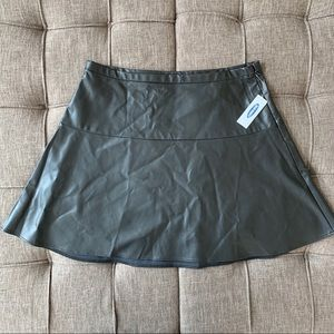 ((Old Navy)) Faux Leather Skater Skirt
